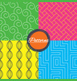 labyrinth braid and floral seamless textures vector image vector image