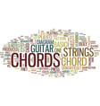 learn guitar chords text background word cloud vector image vector image