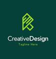 letter k outline creative modern logo vector image vector image