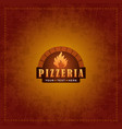 menu cover design for pizzeria vector image