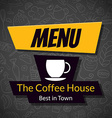 Modern Coffee House Menu Card Design template vector image