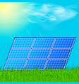 modern solar station with blue panels standing in vector image vector image