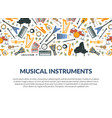 musical instruments banner template with different vector image