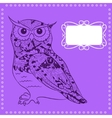 Owl background vector image vector image