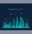 panama city skyline panama linear style vector image