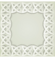 paper celtic border vector image vector image