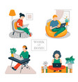 people at home vector image vector image