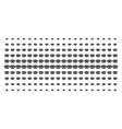 privacy mask shape halftone array vector image