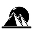 pyramid egypt icon simple black style vector image vector image