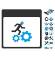 Running Worker Calendar Page Icon With vector image vector image