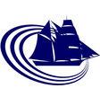 Sailing ship 2 vector image vector image