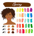 Seasonal color analysis palette for spring type