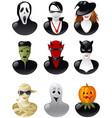 set of halloween avatars vector image vector image