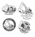 set of logos excavator vector image vector image
