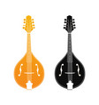set of mandolin in orange and black colors vector image vector image