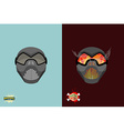 Set paintball mask vector image vector image