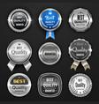 silver seal medal award mark badge and labels vector image vector image