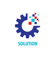 solution concept logo design gear cogwheel icon vector image vector image