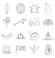 Sri Lanka travel icons set outline style vector image vector image