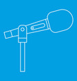 stage microphone icon outline style vector image vector image