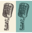 Studio Microphone Vintage Engraved Retro vector image