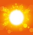 summer background - sky and sunshine vector image vector image