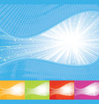 sunbeam wavy background vector image vector image