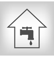 Tap in house sign vector image