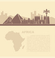 The layout of the leaflets with the sights africa