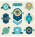 Travel and tourism badges ribbons labels vector image vector image
