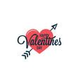 Valentines day vintage heart logo on white