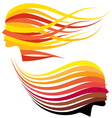 Woman head with hair colors vector image vector image