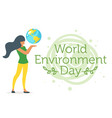 world environment day concept vector image vector image