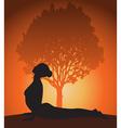 Yoga woman in cobra pose vector image vector image