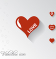 Heart icon Valentine greeting card vector image