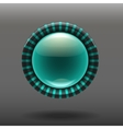 Blue shiny glass buttons vector image