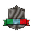 emblem with italy flag vector image