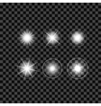 Lighting Effects of Flash Glow White Elements vector image