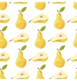pears and slices seamless pattern vector image