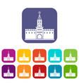 russian kremlin icons set vector image