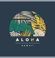 aloha hawaii colorful tropical t-shirt vector image