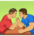 Armwrestling competition pop art style vector image