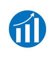 arrow move up symbol growing graph icon vector image