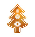 baked christmas tree sweet classic cookie with vector image