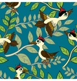 Birds and branches vector image vector image