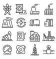 black indutry power icon set vector image vector image