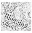 blogging websites Word Cloud Concept vector image vector image