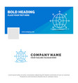 blue business logo template for business global vector image