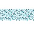 blue mosaic texture horizontal border vector image vector image