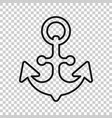 boat anchor sign icon in transparent style vector image vector image
